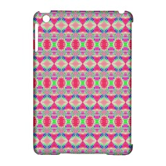 Pretty Pink Shapes Pattern Apple Ipad Mini Hardshell Case (compatible With Smart Cover) by BrightVibesDesign