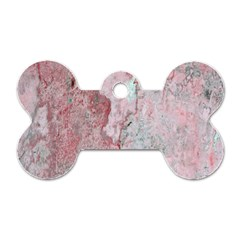 Coral Pink Abstract Background Texture Dog Tag Bone (two Sides) by CrypticFragmentsDesign