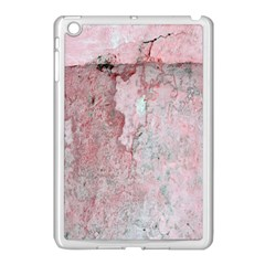Coral Pink Abstract Background Texture Apple Ipad Mini Case (white) by CrypticFragmentsDesign
