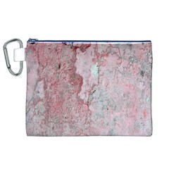 Coral Pink Abstract Background Texture Canvas Cosmetic Bag (xl) by CrypticFragmentsDesign