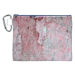 Coral Pink Abstract Background Texture Canvas Cosmetic Bag (xxl) by CrypticFragmentsDesign