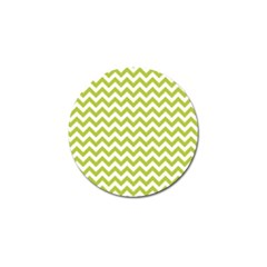 Spring Green & White Zigzag Pattern One Piece Boyleg Swimsuit Golf Ball Marker (10 Pack) by Zandiepants