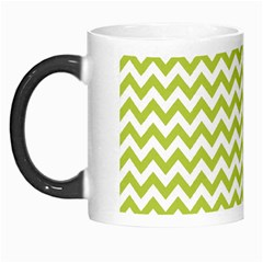 Spring Green & White Zigzag Pattern One Piece Boyleg Swimsuit Morph Mug