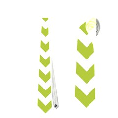 Spring Green & White Zigzag Pattern One Piece Boyleg Swimsuit Necktie (one Side)