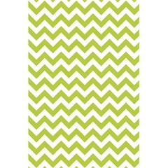 Spring Green & White Zigzag Pattern One Piece Boyleg Swimsuit 5 5  X 8 5  Notebook