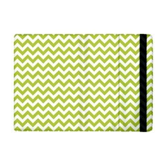 Spring Green & White Zigzag Pattern One Piece Boyleg Swimsuit Apple Ipad Mini Flip Case by Zandiepants