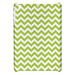 Spring Green & White Zigzag Pattern One Piece Boyleg Swimsuit Apple Ipad Mini Hardshell Case