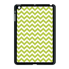 Spring Green & White Zigzag Pattern One Piece Boyleg Swimsuit Apple Ipad Mini Case (black) by Zandiepants