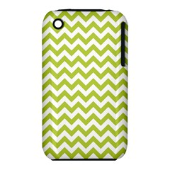 Spring Green & White Zigzag Pattern One Piece Boyleg Swimsuit Apple Iphone 3g/3gs Hardshell Case (pc+silicone)