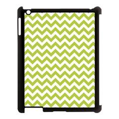Spring Green & White Zigzag Pattern One Piece Boyleg Swimsuit Apple Ipad 3/4 Case (black) by Zandiepants