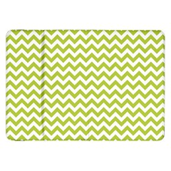Spring Green & White Zigzag Pattern One Piece Boyleg Swimsuit Samsung Galaxy Tab 8.9  P7300 Flip Case by Zandiepants