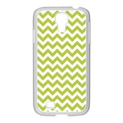 Spring Green & White Zigzag Pattern One Piece Boyleg Swimsuit Samsung Galaxy S4 I9500/ I9505 Case (white)