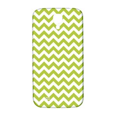 Spring Green & White Zigzag Pattern One Piece Boyleg Swimsuit Samsung Galaxy S4 I9500/i9505  Hardshell Back Case
