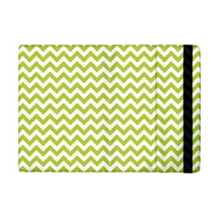 Spring Green & White Zigzag Pattern One Piece Boyleg Swimsuit Apple Ipad Mini 2 Flip Case