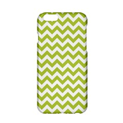 Spring Green & White Zigzag Pattern One Piece Boyleg Swimsuit Apple Iphone 6/6s Hardshell Case by Zandiepants