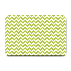Spring Green & White Zigzag Pattern Small Doormat