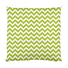 Spring Green & White Zigzag Pattern Standard Cushion Case (one Side) by Zandiepants