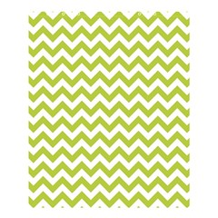 Spring Green & White Zigzag Pattern Shower Curtain 60  X 72  (medium) by Zandiepants