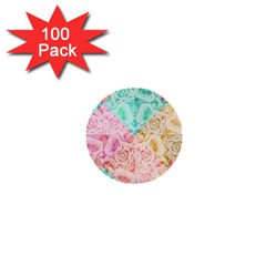 A Rose Is A Rose 1  Mini Buttons (100 pack)  by hennigdesign