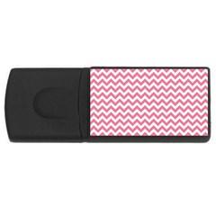 Soft Pink & White Zigzag Pattern Usb Flash Drive Rectangular (4 Gb) by Zandiepants