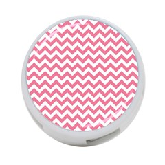 Soft Pink & White Zigzag Pattern 4 Port Usb Hub (one Side) by Zandiepants