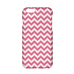 Soft Pink & White Zigzag Pattern Apple Iphone 6/6s Hardshell Case by Zandiepants