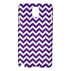 Royal Purple & White Zigzag Pattern Samsung Galaxy Note 3 N9005 Hardshell Case by Zandiepants