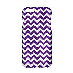Royal Purple & White Zigzag Pattern Apple Iphone 6/6s Hardshell Case by Zandiepants