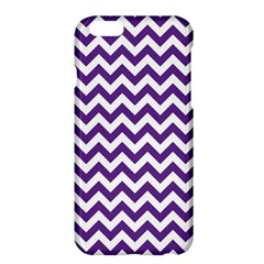 Royal Purple & White Zigzag Pattern Apple Iphone 6 Plus/6s Plus Hardshell Case by Zandiepants