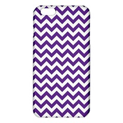 Royal Purple & White Zigzag Pattern Iphone 6 Plus/6s Plus Tpu Case by Zandiepants
