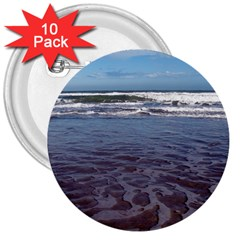 Ocean Surf Beach Waves 3  Buttons (10 Pack)  by CrypticFragmentsColors