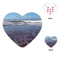Ocean Surf Beach Waves Playing Cards (heart)