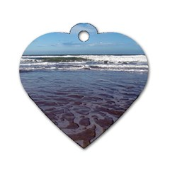 Ocean Surf Beach Waves Dog Tag Heart (two Sides)