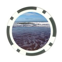 Ocean Surf Beach Waves Poker Chip Card Guards