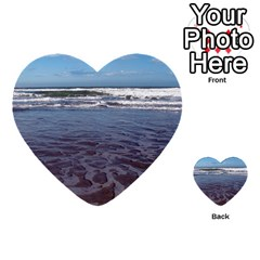 Ocean Surf Beach Waves Multi Purpose Cards (heart)  by CrypticFragmentsColors