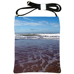 Ocean Surf Beach Waves Shoulder Sling Bags by CrypticFragmentsColors