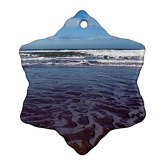 Ocean Surf Beach Waves Ornament (snowflake)  by CrypticFragmentsColors