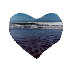 Ocean Surf Beach Waves Standard 16  Premium Heart Shape Cushions
