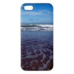 Ocean Surf Beach Waves Apple Iphone 5 Premium Hardshell Case by CrypticFragmentsColors