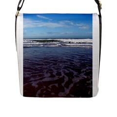 Ocean Surf Beach Waves Flap Messenger Bag (l)  by CrypticFragmentsColors