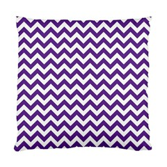 Royal Purple & White Zigzag Pattern Standard Cushion Case (two Sides) by Zandiepants