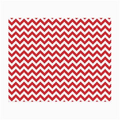 Poppy Red & White Zigzag Pattern Small Glasses Cloth by Zandiepants