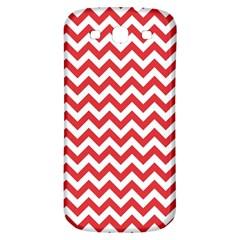Poppy Red & White Zigzag Pattern Samsung Galaxy S3 S Iii Classic Hardshell Back Case