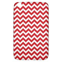 Poppy Red & White Zigzag Pattern Samsung Galaxy Tab 3 (8 ) T3100 Hardshell Case