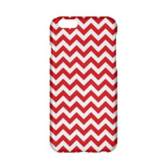 Poppy Red & White Zigzag Pattern Apple Iphone 6/6s Hardshell Case by Zandiepants
