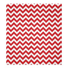 Poppy Red & White Zigzag Pattern Shower Curtain 66  X 72  (large)