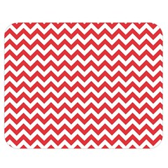 Poppy Red & White Zigzag Pattern Double Sided Flano Blanket (medium)