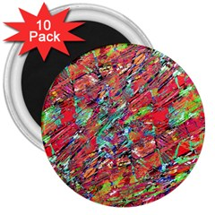 Expressive Abstract Grunge 3  Magnets (10 Pack)  by dflcprints