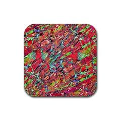 Expressive Abstract Grunge Rubber Coaster (square)  by dflcprints