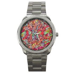 Expressive Abstract Grunge Sport Metal Watch by dflcprints